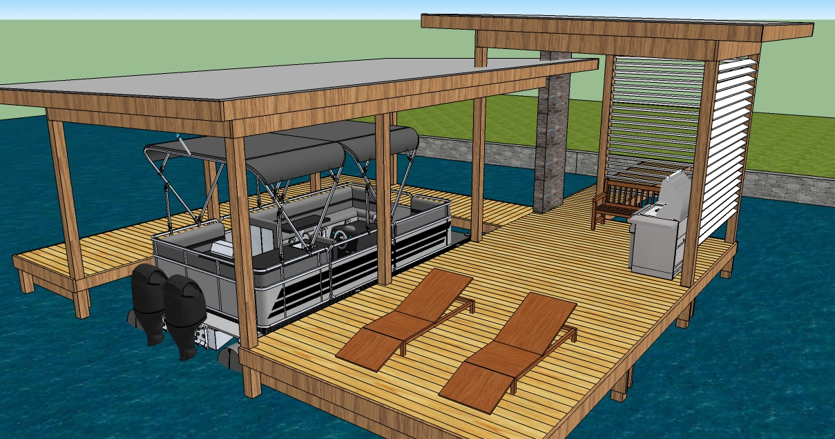 dock and boat house plans must see plan make easy to build boat. Black Bedroom Furniture Sets. Home Design Ideas